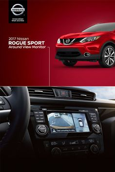 Introducing the brand-new Rogue Sport.   The available Around View® Monitor keeps your pride and wheels intact.   It uses four cameras to give you a virtual composite 360° bird's-eye view of your vehicle alongside the back- up camera to help you park like a pro.  *Parking aid/convenience feature. Cannot completely eliminate blind spots. May not detect every object and does not warn of moving objects. Always check surroundings and turn to look behind you before moving vehicle.