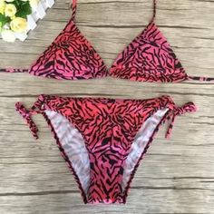 39672b66bff3 Women Tie Dyed Bikini Set Swimsuit Bathing Suits With Halter Strap Triangle