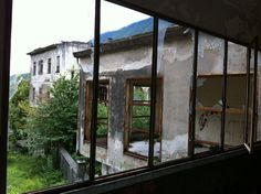 Abandoned boarding school in Porlezza, Italy