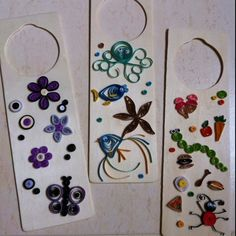 Quilling - Door hangers for my kids rooms - the fish with lips love it