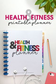Keep your health and fitness goals and resolutions by writing them down and tracking them with this Health & Fitness Printable Planner.
