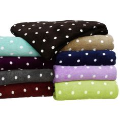 Printed Dot Plush All Season Throw Blanket | Overstock.com Shopping - The Best Deals on Blankets