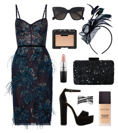 """Race Day Ready"" by tasha-m-e ❤ liked on Polyvore featuring Notte by Marchesa, Oscar de la Renta, Laura Mercier, Steve Madden, CÉLINE, NARS Cosmetics, MAC Cosmetics, Bling Jewelry, melbournecup and australianmelbournecup"