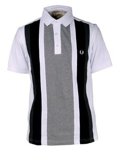 www.brokencherry.com #fredperry #mod #fashion  Vertical Cut and Sew Men's Shirt   $108.00 I ain't buying it for that price!