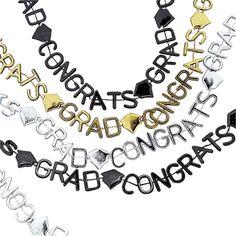 Shimmery Graduation Necklaces - OrientalTrading.com