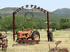 """Rust-N-Peace""  tractor and other farm equipment in Texas"