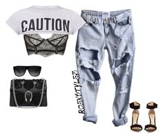 """""""-"""" by roexstylez89 ❤ liked on Polyvore featuring Agent Provocateur, Gianvito Rossi, Yves Saint Laurent and Gucci"""