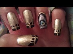 House of Anubis nail art tutorial