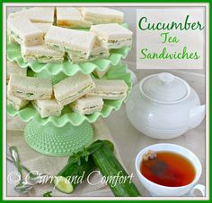 Curry and Comfort: Tea Sandwich Series: Cucumber Sandwiches - Throwback Thursday