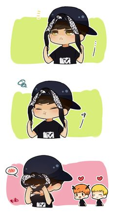 EXO chibi | Even Yixing the Chibi is such a cutie! ♥