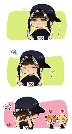 EXO chibi | Even Yixing the Chibi is such a cutie! ♥