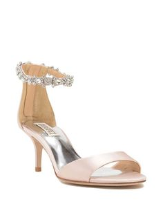 Find the perfect pair of wedding shoes at Badgley Mischka, with designer wedding heels, flats, sandals and more, all dripping with gorgeous details. Bridal Shoes, Wedding Shoes, Rose Gold Sandals, Evening Shoes, Designer Heels, Geraniums, Badgley Mischka, Ankle Strap, Kitten Heels