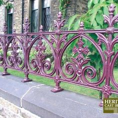 Ornate cast iron railings from the Terrace Collection