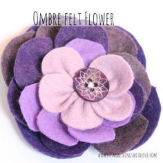 Ombre Felt Flower - Do Small Things with Love