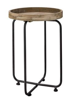 #prontowonen #droomwoonkamer Bijzettafel Antigua Ø60x65 hout - Kleinmeubelen - Accessoires