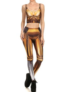 C3PO Inspired Leggings & Croptop on Behance