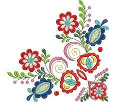 Ľudová výšivka Vajnory kožuch, 8 farieb, šatka, rozmer 20x20 cm