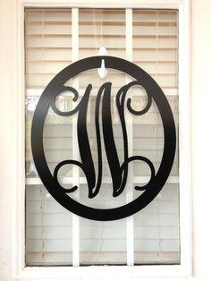 Front Door Wreaths/ Metal Monogram Door Hanger/ by housesensations