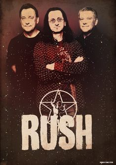 Band Poster: Rush. The masters of rock.