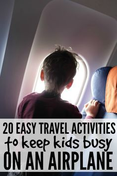 If you plan on spending more than 30 minutes on an airplane with your kids this summer, this list of 20 easy travel activities to keep kids happy on an airplane will save your life! http://www.cloudywithachanceofwine.com/20-easy-travel-activities-to-keep-kids-happy-on-an-airplane/?utm_content=buffera36e2&utm_medium=social&utm_source=pinterest.com&utm_campaign=buffer