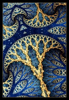 Love the colours, texture and pattern Motifs Textiles, Foto Poster, Fractal Art, Islamic Art, Sacred Geometry, Textures Patterns, Blue Gold, Blue Yellow, Pattern Design