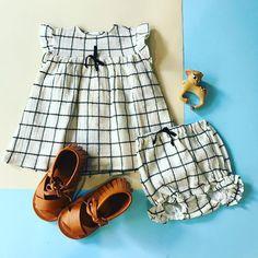 Precioso conjunto de vestido y bloomer de bebé de la marca Búho Barcelona  para el verano de 2018  buhobarceloba  buhobcn  babywear  babywearing   minidress   ... 051a7bb36e8