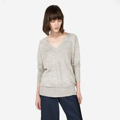 Pin for Later: The 1 Item You'll Be So Glad You Added to Your Summer Wardrobe  Everlane The Linen Deep V Sweater ($78)