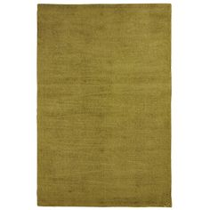 Green Dhara Solid Rug - Moss - Polyester - Outdoor