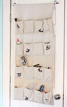 Stylish Storage: Make a pretty hanging organizer for your craft supplies! @Karen - The Graphics Fairy
