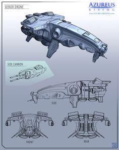 Azureus Rising - Seeker Drone by Hideyoshi.deviantart.com on @deviantART