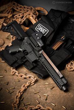 AR Five Seven with Gemtech Home Defense, Self Defense, Rifles, Armas Wallpaper, Armas Ninja, Custom Guns, Fire Powers, Assault Rifle, Cool Guns