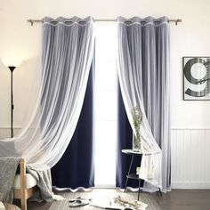 make similar curtains. 2 types of fabric...
