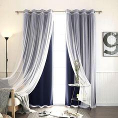 make similar curtains. 2 types of fabric...