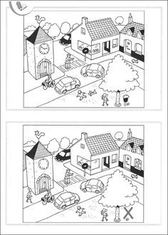 Spot the differences Hidden Picture Games, Hidden Picture Puzzles, Toddler Preschool, Preschool Activities, Hidden Pictures, Hidden Objects, Kids Class, Activity Sheets, Early Childhood Education