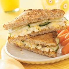 *EGG SALAD & CUCUMBER SANDWICHES- Add a slice of tomato and put them on rye cocktail bread and you have yourself a great mini brunch-style cucumber sandwich! :) www.tasteofhome.c...