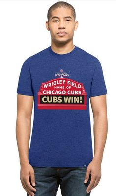 CHICAGO CUBS MEN'S WORLD SERIES CHAMPIONS MARQUEE DESIGN TEE BY 47 BRAND