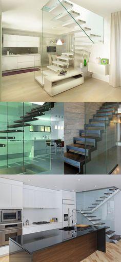 stairs,escalier,escaleras,design,diseño Combinación perfecta; escaleras+cristal ;)