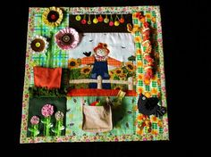 Autumn Garden Quilt Tactile Bright & by EndearingDignite on Etsy
