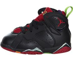 312ebdbf47d Air Jordan AJ 7 Retro BT Infants Shoes Blck UNVERSTY RD GRN PLS CL Gry *  You can find more details by visiting the image link.