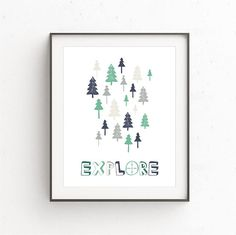Your place to buy and sell all things handmade Tree Wall Art, Art Wall Kids, Art Kids, Printing Services, Online Printing, Contemporary Wall Art, Green Trees, Kids Decor, Printable Wall Art