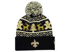 low priced d34eb eefc7 New Orleans Saints Mens Knit Hat Saints Beanie