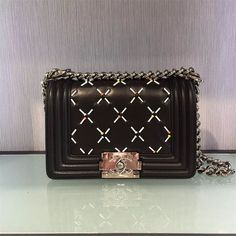 Chanel Calfskin Boy Flap Shoulder Small Bag Black 2017 In Price 205usd Shoes For Less