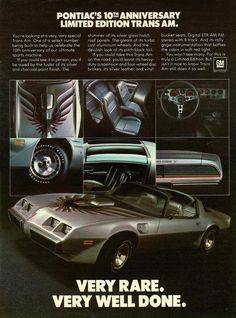 """1980 Trans Am Advert. """"Very race, very well done"""""""