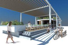 EVM_Bluefin-Infografía 01 #arquitectura #architecture #kiosco #terraza #marmol #marble