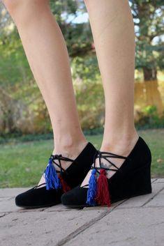 Lace Up Boho Shoe Refashion Full DIY Tutorial