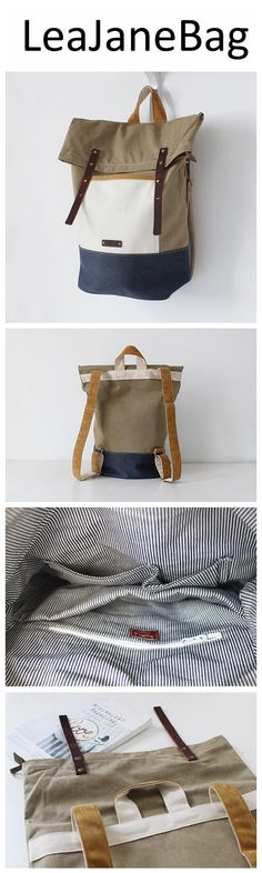 Leather Backpack Waxed Canvas Rucksack Roll up Top, Laptop Bag, Hipster Backpack,College Bag Source by bags Backpack Purse, Leather Backpack, Canvas Backpack, Satchel Bag, Travel Backpack, Clutch Purse, Crossbody Bags, Coin Purse, Tote Bag
