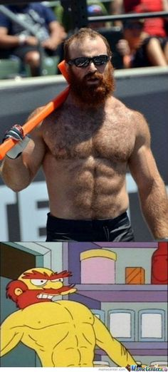 It's Groundskeeper Willie In Real Life - https://www.facebook.com/diplyofficial