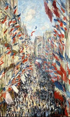 Rue Montorgueil, Paris, Festival of June 1878 - Claude Monet Paintings Monet Paintings, Impressionist Paintings, Landscape Paintings, Claude Monet, Rue Montorgueil Paris, Jasper Johns, Rene Magritte, Painting Wallpaper, Monet Wallpaper