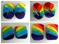 Double rainbow diapers for adorable twin boys www.rosybunz.com