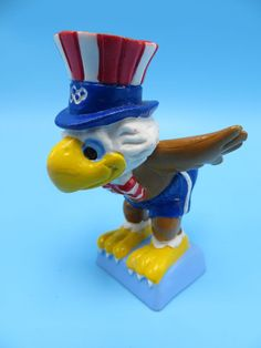 1984 La Olympic Games Mascot Sam The Eagle Resin Figurine w Berrie Co | eBay